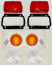 New! 1965 - 1966 Mustang Lens Kit Parking Tail light back up Lenses with Gaskets