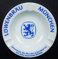 Lowenbrau Beer Munchen Lion Porcelain Ashtray Schwarzenhammer Porzellan 12
