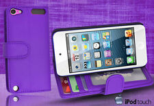 Purple Side Wallet Leather Case Cover for iPod Touch 5th Generation iTouch 5 +SP