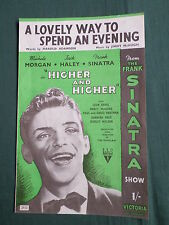 "FRANK SINATRA -""  A LOVELY WAY TO SPEND AN EVENING "" - SHEET MUSIC FOR THE SONG"