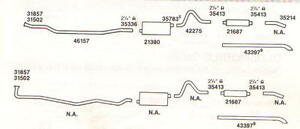 1963-64 OLDSMOBILE SUPER, DYNAMIC, 88 DUAL EXHAUST SYSTEM, ALUMINIZED