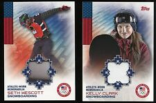 2014 Topps US Winter Olympic Worn Memorabilia - SETH WESCOTT