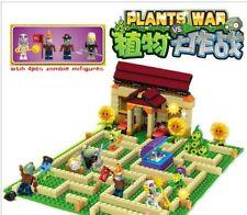NEW Bricks Toys Plants vs Zombies Garden maze DIY Toys for Kids Building Blocks