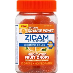 Zicam Cold Remedy Medicated Fruit Drops - 25 Count