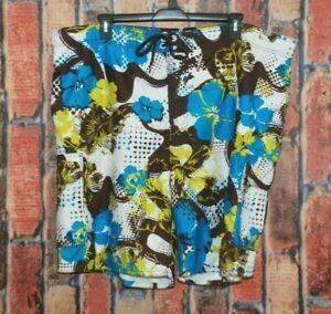 Ocean Pacific Men's Swimming Trunks Size 3XL (48/50) Pockets Floral Tie Waist