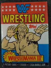 💥 1987 WWF Wrestling Trading Cards Topps Wax Pack Hulk Hogan