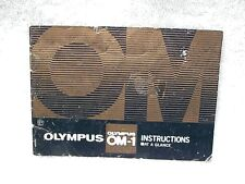 Olympus OM-1 Instructions At a Glance   $7.50  