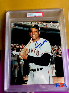 """Willie Mays Signed 8x10 Color photo - PSA/DNA - """"SAY HEY"""" - GIANTS - BEAUTY -"""