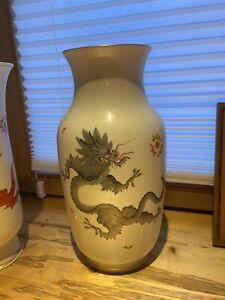 Meissen Porzellan Vase Grauer Drache 1. Wahl