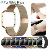 For Fitbit Blaze Watch Stainless Steel Loop Strap Wrist Band+ Frame Replacement