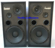 "Pair 12"" Floor Standing High-Quality 3-Way Home Theater Stereo Speakers Black"