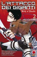 manga L'ATTACCO DEI GIGANTI BIRTH OF RIVAILLE N. 2 RISTAMPA - panini planet