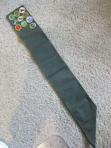 Boy Scouts Merit Badge Sash Khaki One Size