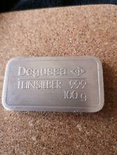 Silberbarren Degussa 100 Gramm 999 Silber