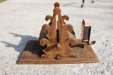 Vintage Wooden Mechanical Sigaret Dispenser Box Holder Matches #497