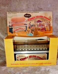 Vintage Sunbeam Coney Island Steamer Frank N Bun Hotdog & Bun Warmer 1978