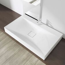 Durovin Bathrooms White 80cm x 48cm Counter Top Wall Hung Basin