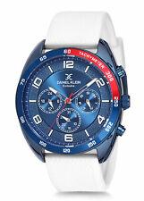 Daniel Klein Men's Watch Silicone Band 46mm Analog Blue, White