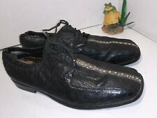 Unbranded Black Ostrich Stingray Leather Oxfords Laces Mens Size 10