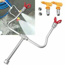 2 Head Airless Paint Sprayer Spray Gun Tips Extension Pole Rod Accessories