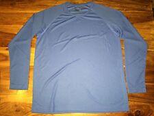 New mens Hanes Tagless Long Sleeve Performance Sports T. Royal Blue Xl. E57.
