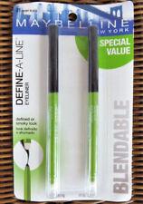 MAYBELLINE DEFINE-A-LINE EYELINER Ebony Black 801 DUO 2-PACK Sharpener/Smudger
