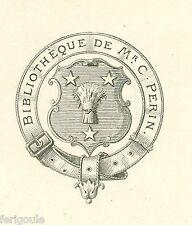 EX-LIBRIS de Charles PERIN. Soissons.