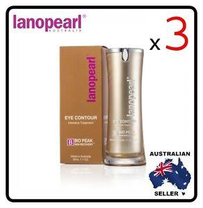 [ lanopearl ] 3x Lano pearl Eye Contour Intensive Treatment (LB28) 30ml