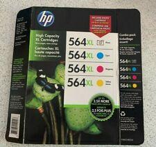 HP 564XL High Capacity XL 4 Pak Color Cartridges Sealed