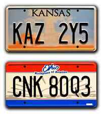 Supernatural | KAZ 2Y5 & CNK 80Q3 | STAMPED Replica Prop License Plate Combo