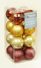 32 Marrón Dorado Cobre Inastillable Árbol de Navidad Bolas Decoración Mezcla
