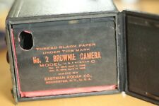 No 2 Brownie box camera, made by Eastman Kodak. Very old.