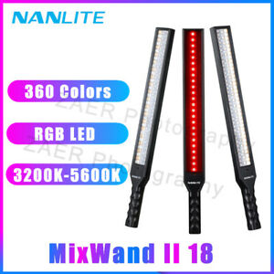 New Nanlite MixWand II 18 RGB LED 360 Colors Painting Video Light Tube Lighting