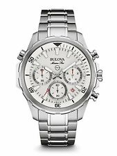 Bulova Men's 96B255 Marine Star Silver Tone Dial Chronograph Stainless Watch