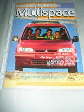 Citroen Berlingo Multispace range brochure Apr 1998