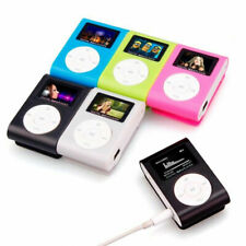 MP3 Player With Digital LCD Screen Mini Clip Support 32GB Micro SD TF (FM)