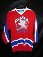 Vintage Alaska All Stars Hockey Jersey O'shea S Red White Blue # 17 Player Used
