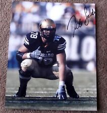NATE SOLDER SIGNED 8x10 GLOSSY PHOTO AUTOGRAPH - COLORADO BUFFALOES