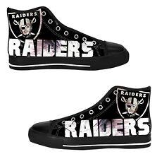 Las Vegas Raiders Shoes Custom Sneakers High Top Canvas Casual Mens Shoes