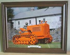 Framed 1939 CLETRAC Tractor Calendar Print w Glass info on reverse FREE SH