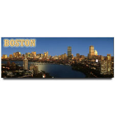 Boston Night panoramic fridge magnet Massachusetts travel souvenir