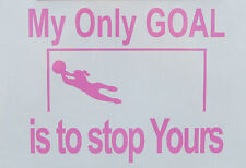 Sports Soccer Goalie Oracal Vinyl Decal Sticker