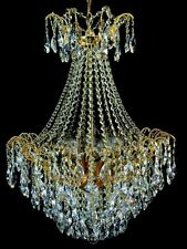 32 ARM CHANDELIER WITH REAL FINE CRYSTALS IN GOLD Ø 52 CM