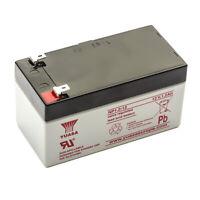 Yuasa NP1.2-12 Lead Acid Sealed Rechargeable VRLA Battery Torch Light 12v 1.2amp