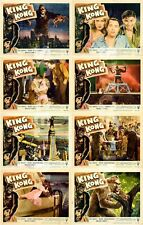 KING KONG (1933) U.S. Lobby Cards Complete Set of 8 (11 x 14 Inches)