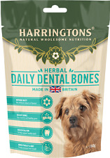 Harringtons Natural Daily Dental Bones Dog Treats Hypoallergenic 100g Box of 7