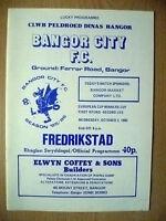 1985 EUROPEAN CUP WINNER CUP 1st RD, 2nd LEG- BANGOR CITY v FREDRIKSTAD