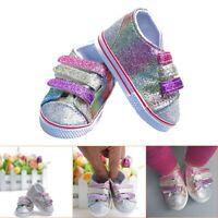 Puppenkleidung für 18 Zoll Puppen Mädchen Segeltuch Schuh Turnschuh Schuhe #Neu