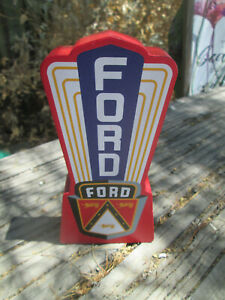 FORD VICTORIA V8  WOOD Display FOR Shop DELUXE STANDARD HOT ROD CROWN