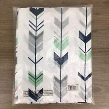 Sweet JoJo Navy Blue Mint Grey Baby Crib Skirt Dust Ruffle For Mod Arrow Bedding